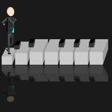 Persona en un piano Imagenes de archivo