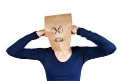 Persona enojada Imágenes de archivo libres de regalías