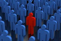 Persona in folla Fotografie Stock Libere da Diritti