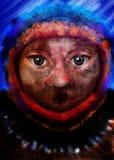 Persona indígena abstracta Fotografía de archivo