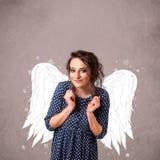 Persona linda con las alas ilustradas ángel Imagenes de archivo