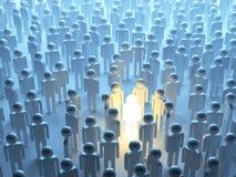 Persona luminosa. Individualidad stock de ilustración