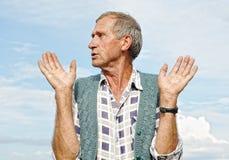 Persona masculina envejecida media imagen de archivo