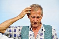 Persona masculina envejecida media imágenes de archivo libres de regalías