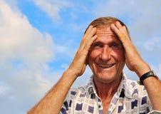 Persona masculina envejecida media fotografía de archivo libre de regalías