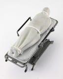 Persona muerta en la camilla del hospital Fotos de archivo libres de regalías