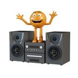 Persona musicale ed audio centro Fotografia Stock Libera da Diritti