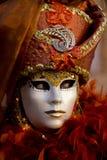 Maschera veneziana di carnevale Fotografie Stock Libere da Diritti