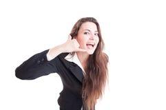 Persona o donna di contatto amichevole e felice di affari Immagine Stock