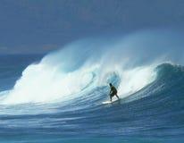 Persona que practica surf 1 de Maui Fotos de archivo
