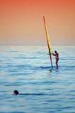 Persona que practica surf #2 Imágenes de archivo libres de regalías