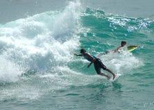 Persona que practica surf 21 Foto de archivo libre de regalías