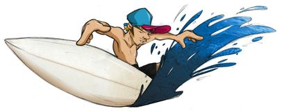 Persona que practica surf fotografía de archivo
