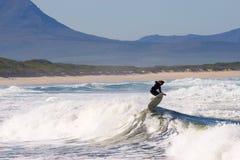 Persona que practica surf #3 Imagen de archivo libre de regalías