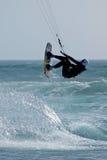 Persona que practica surf 3 de la cometa Imagen de archivo libre de regalías