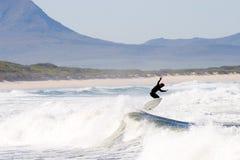 Persona que practica surf #4 Imágenes de archivo libres de regalías