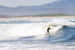 Persona que practica surf #5 Foto de archivo