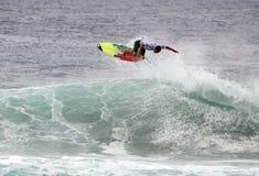 Persona que practica surf aérea Fotografía de archivo