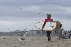 Persona que practica surf Belmar Foto de archivo libre de regalías