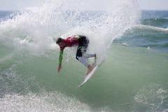 Persona que practica surf Courtney Conlogue Imagen de archivo