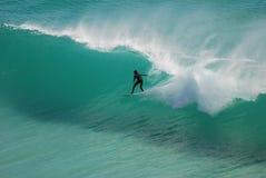 Persona que practica surf de Ciudad del Cabo Fotografía de archivo libre de regalías