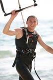 Persona que practica surf de la cometa Imagen de archivo