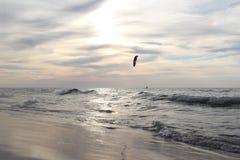 Persona que practica surf de la cometa Fotos de archivo libres de regalías
