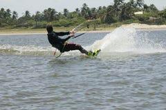 Persona que practica surf de la cometa Imágenes de archivo libres de regalías