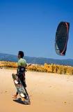 Persona que practica surf de la cometa del deportista Fotografía de archivo libre de regalías