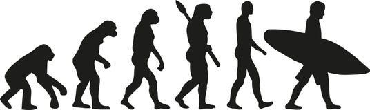 Persona que practica surf de la evolución libre illustration