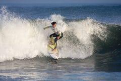 Persona que practica surf de la mujer Fotografía de archivo
