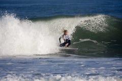 Persona que practica surf de la mujer Fotografía de archivo libre de regalías