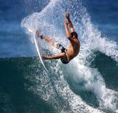 Persona que practica surf de la potencia Fotos de archivo libres de regalías