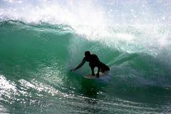 Persona que practica surf de Southshore Imagen de archivo