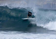 Persona que practica surf en Las Palmas 2 Fotografía de archivo