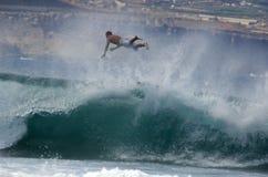 Persona que practica surf en Las Palmas 3 Fotos de archivo