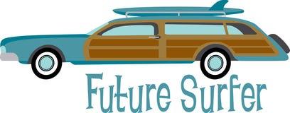Persona que practica surf futura Fotos de archivo