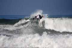 Persona que practica surf Justine Du Pont Fotografía de archivo