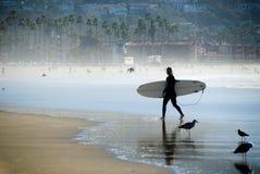 Persona que practica surf pacífica Fotografía de archivo libre de regalías