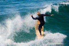 Persona que practica surf pacífica Imagen de archivo libre de regalías