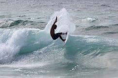 Persona que practica surf profesional Fredrick Patachhia Imágenes de archivo libres de regalías