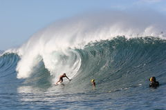 Persona que practica surf Randall Paulson de la tubería Fotografía de archivo