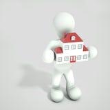 Persona que sostiene la casa libre illustration