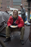 Persona senza casa Fotografia Stock