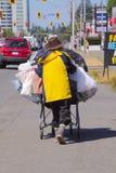Persona senza casa fotografie stock