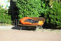 Persona senza casa Immagine Stock