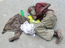 Persona sin hogar Imágenes de archivo libres de regalías