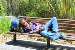 Persona sin hogar Imagen de archivo libre de regalías