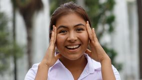 Persona sorprendida de Latina Fotografía de archivo