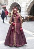 Persona travestita - carnevale veneziano 2013 di Annecy Fotografie Stock Libere da Diritti
